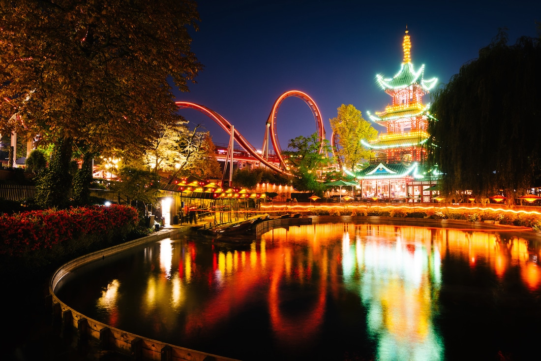 Tivoli Gardens at night, Best roller coasters in Europe