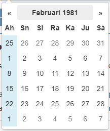Datepicker 9