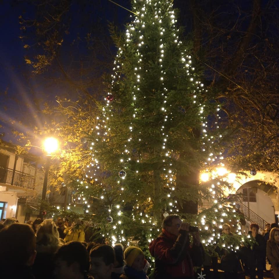 Το άναμμα του Χριστουγεννιάτικου δένδρου και της Φάτνης στο Παλαιοχώρι(φώτο)