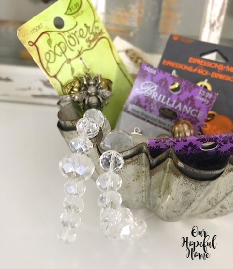clear faceted crystal beads