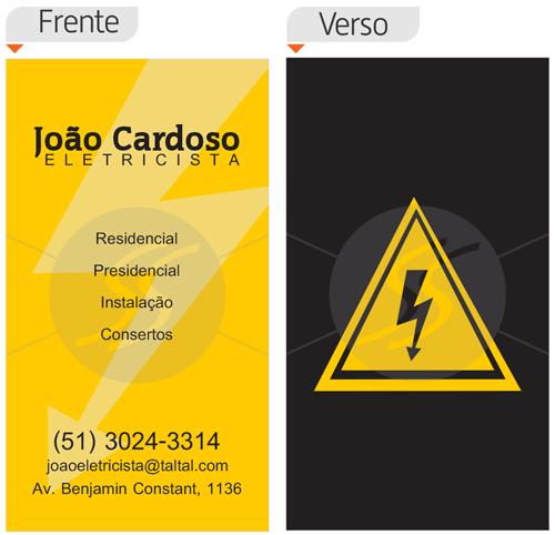 cartoes de visita profissional eletricista - Cartões de Visita para Eletricistas, Criativos e plugados