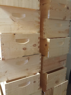 Wooden hive boxes
