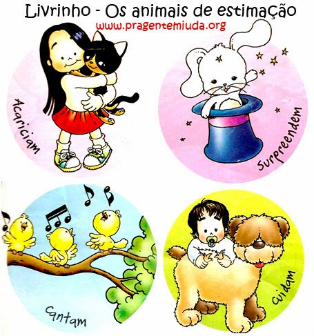 livro animais de estimação
