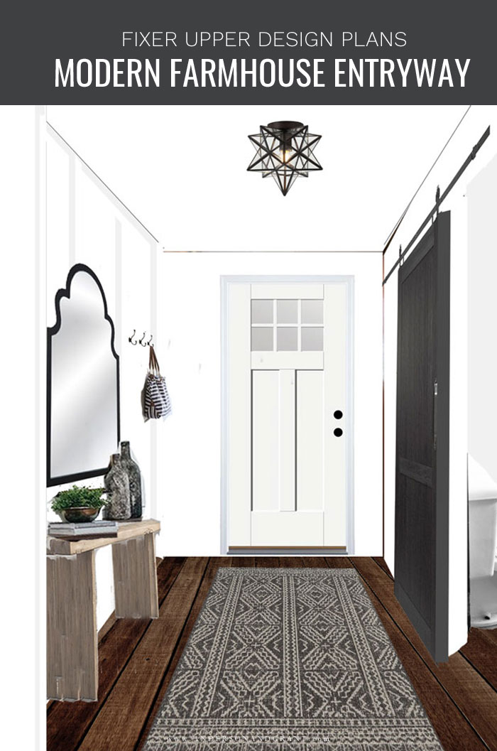 Modern Farmhouse Entry Design Plans