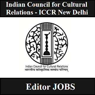 Indian Council for Cultural Relations, ICCR, New Delhi, Editor, Post Graduation, freejobalert, Sarkari Naukri, Latest Jobs, iccr logo