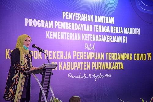Bupati Purwakarta Anne Ratna Mustika Sambut Baik Bantuan Program Kemnaker