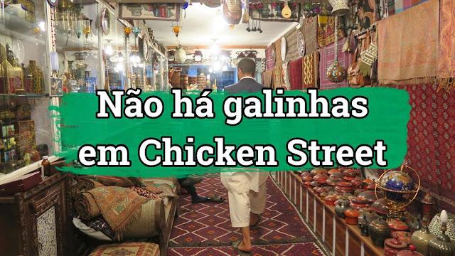 Chicken Street em Cabul, no Afeganistão