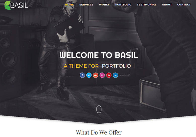 Basil Blogger Template