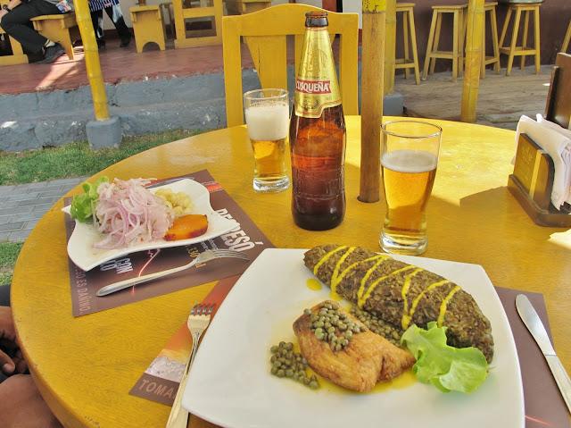 Almoço típico peruano, em Arequipa