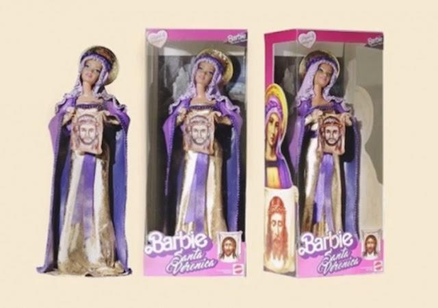 bonecas barbie modificadas, bonecas personalizadas, bonecas barbie religiosas, barbie baphomet, boneca barbie baphomet, boneca santa verônica