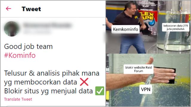 Kominfo Cuma Blokir Website Jual Beli Data Penduduk Indonesia, Netizen Heran