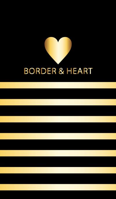 BORDER & HEART -GOLD-
