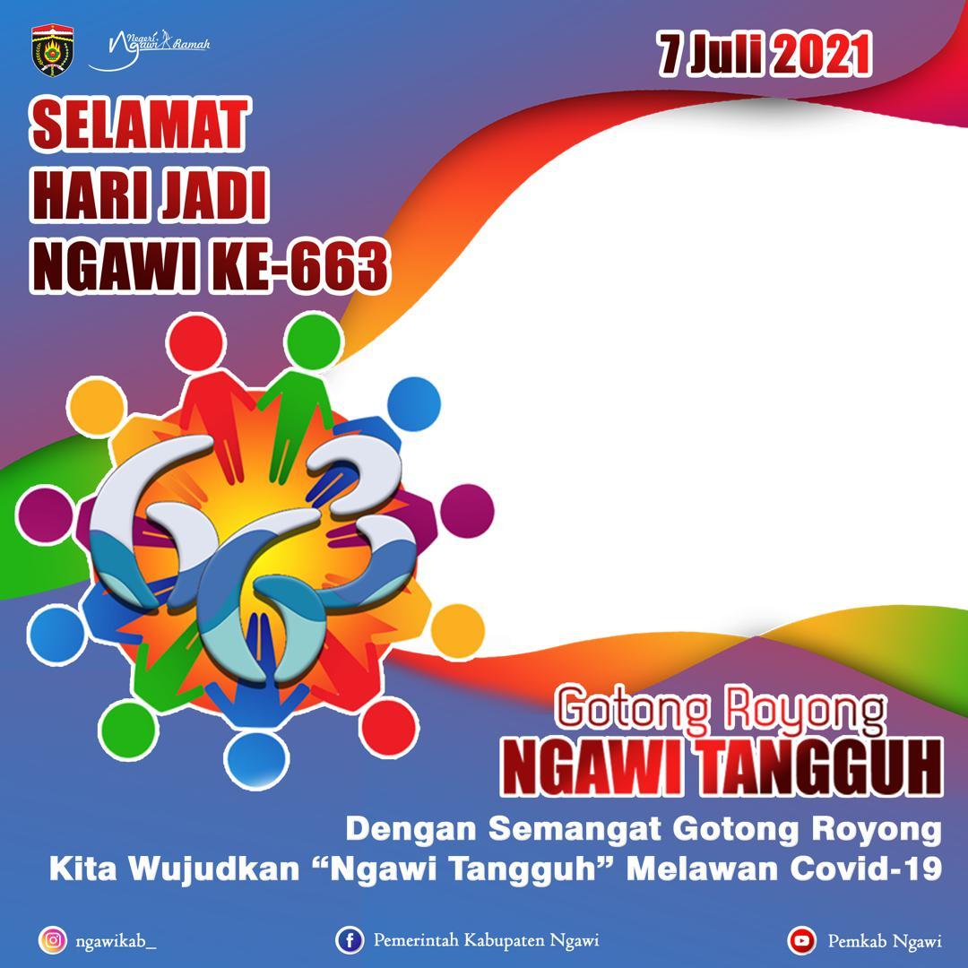 Link Download Background Frame Bingkai Twibbon Ucapan Hari Jadi ke-663 Kabupaten Ngawi Tahun 2021 - Twibbonize