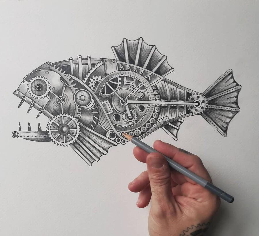 03-Piranha-Steampunk-Steve-Turner-www-designstack-co
