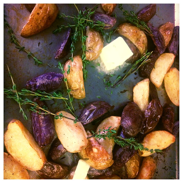 roasted potato recipe, eating fabulously, christopher stewart