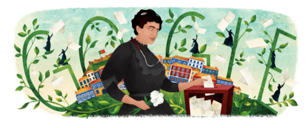 Google homenageia hoje Carolina Beatriz Ângela