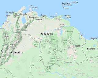 Mapa Satelital con Relieve de Venezuela