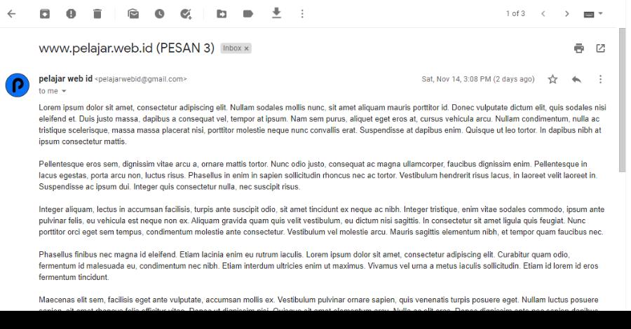 Simpan Email Jadi PDF