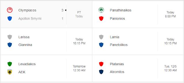 Jadwal Liga Yunani