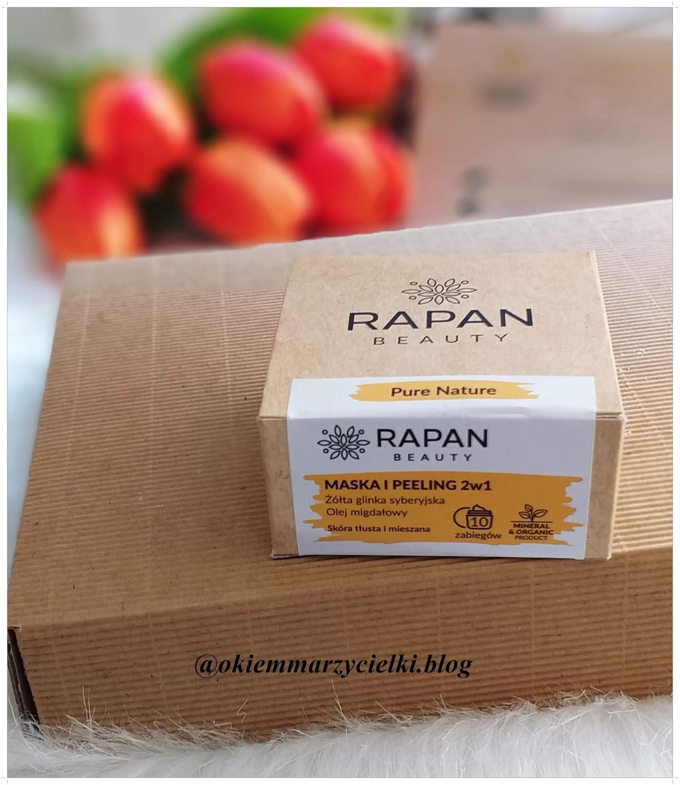 Maska i peeling 2w1 Żółta glinka syberyjska & Olej migdałowy (skóra tłusta i mieszana), Rapan Beauty-recenzja #92