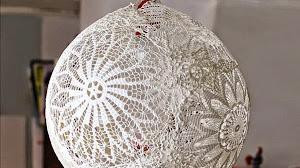 Cómo hacer una lámpara para colgar al crochet