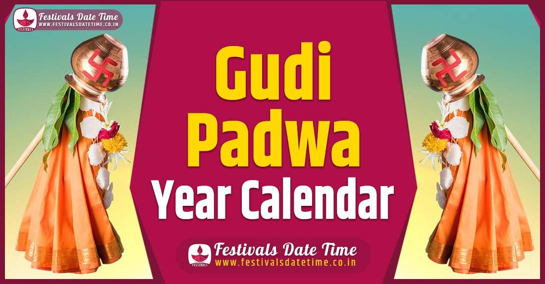 Gudi Padwa Year Calendar, Gudi Padwa Pooja Schedule