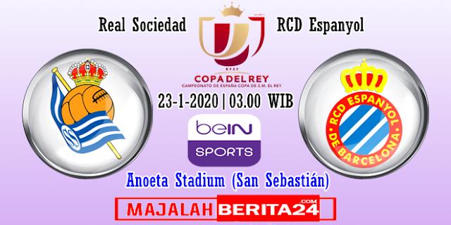 Prediksi Real Sociedad vs Espanyol — 23 Januari 2020