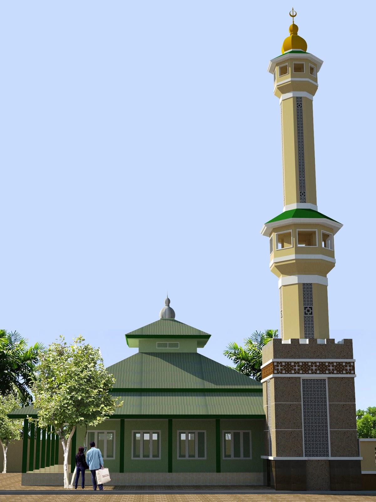 35 Gambar Menara Masjid Mushola Terbaru Model Desain
