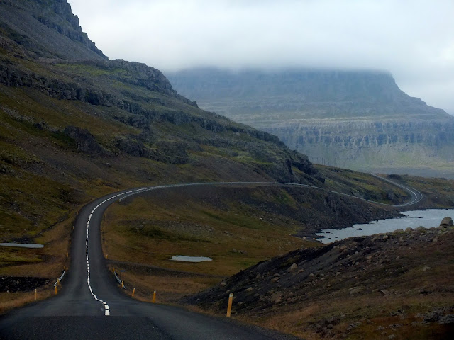 carretera de infarto en Islandia