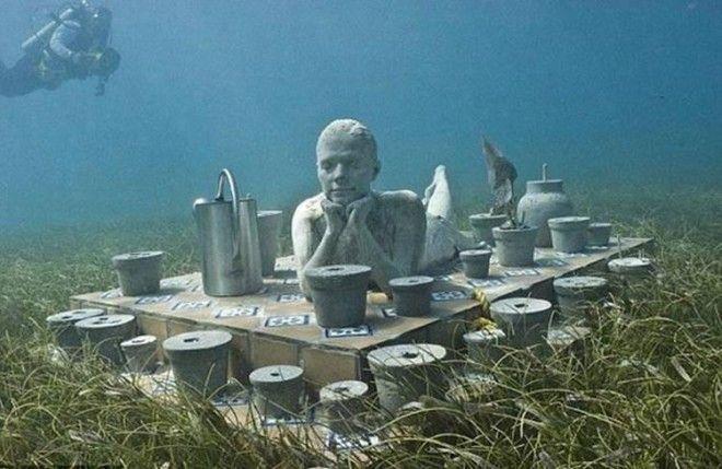 Удивительный Подводный Музей в Канкуне