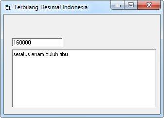 Function Terbilang Indonesia Dan Inggris Dengan Visual Basic 6.0 (Vb6)