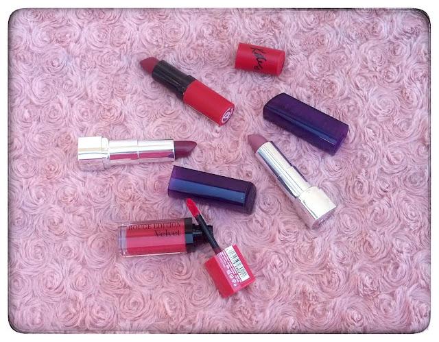 Mes rouges à lèvres pour l'automne