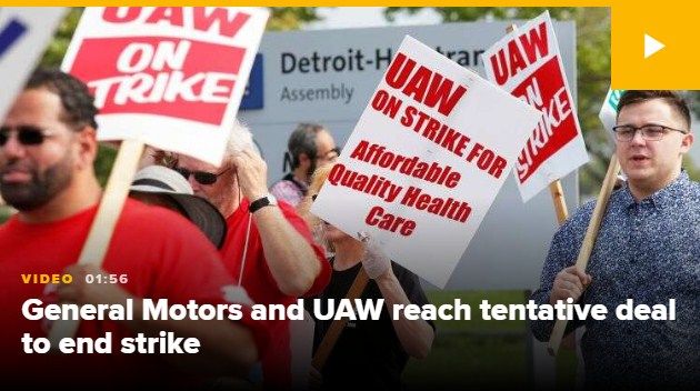 GM, UAW concede to conditional work contract that could end a monthlong strike by 48,000 specialists