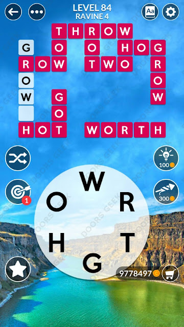 Wordscapes Level 84 answers, cheats, solution for android and ios devices.