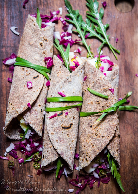 eggs and sauerkraut millet wrap
