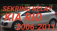 letak sekring dan relay KIA RIO 2006-2011