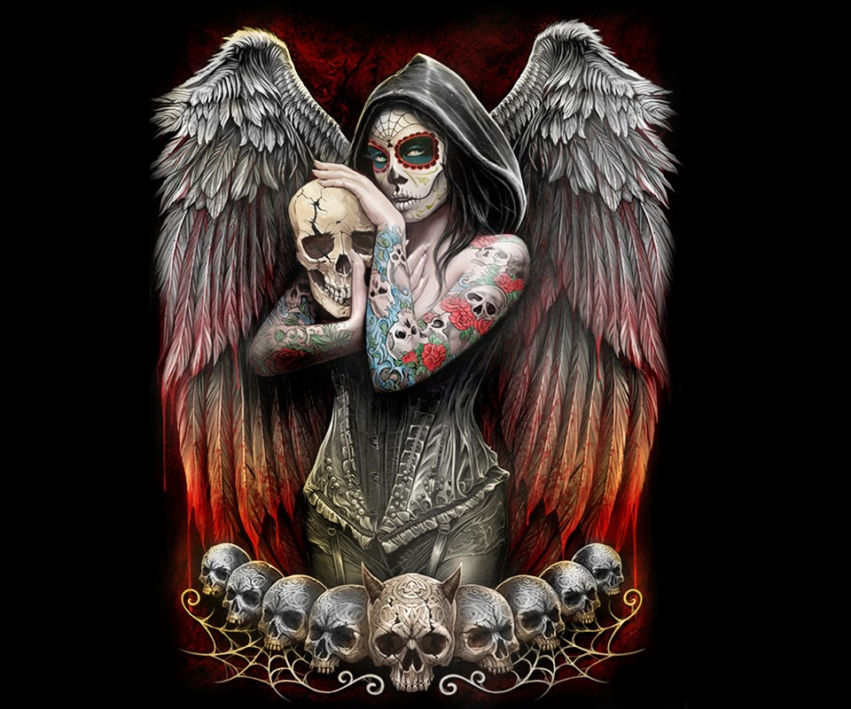 Tattoo Wallpapers Full Hd Iphone: Gothic, Skulls, Death, Fantasy, Erotic And