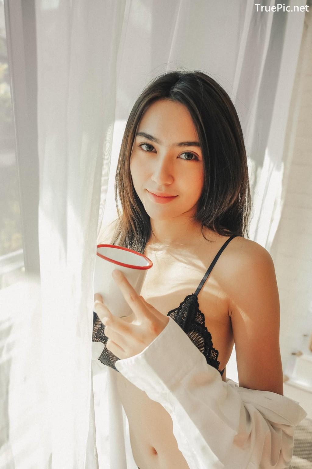 Image Thailand Sexy Model – Baifern Rinrucha Kamnark – Black Lingerie - TruePic.net - Picture-1