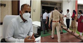 बुरहानपुर पुलिस अधीक्षक ने कोरोना संक्रमित होने से, एक माह बाद संभाला पदभार