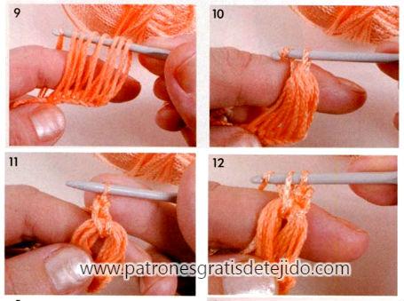 como se teje crochet con regla punto peruano paso a paso en fotos y video