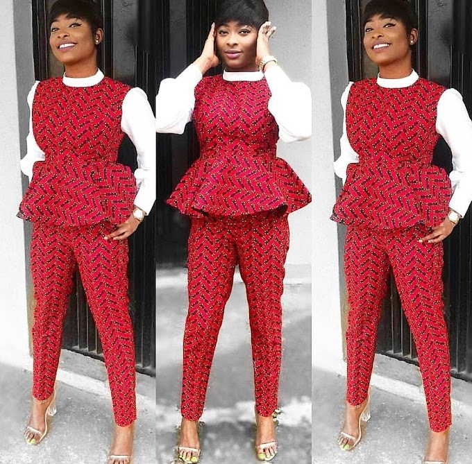 Ankara Peplum And Pant Styles For Fabulous Ladies/Women