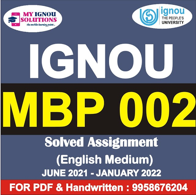 MBP 002 Solved Assignment 2021-22