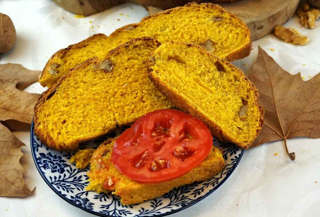 rebanadas de pan de calabaza