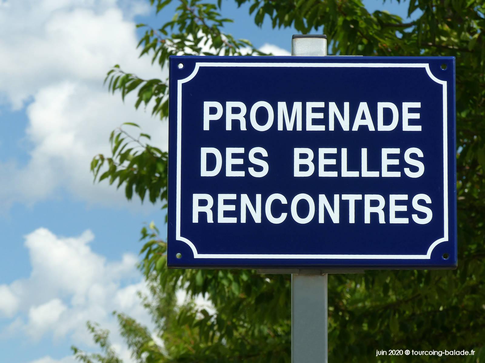 Panneau Promenade des Belles Rencontres, Tourcoing 2020