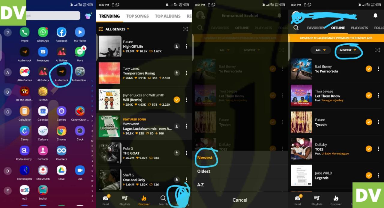 audiomack offline music mp3
