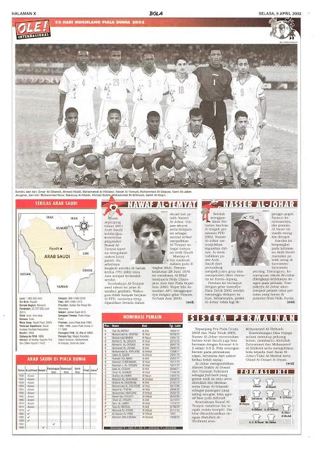 ROAD TO WORLD CUP 2002 SAUDI ARABIA PROFILE