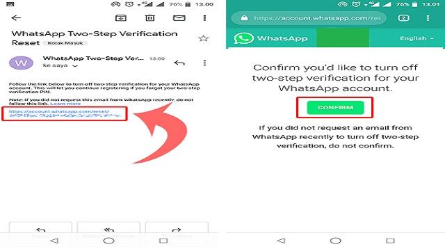 Cara Verifikasi WA Lewat Email