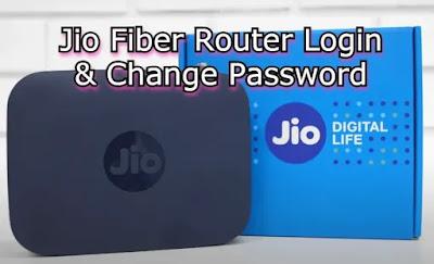 Jio Fiber Router login