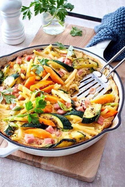 Nudel-Schinken-Pfanne mit Gemüse Rezept