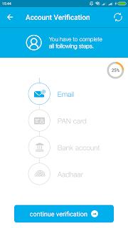 Zebpay Affiliate Program Account Verification